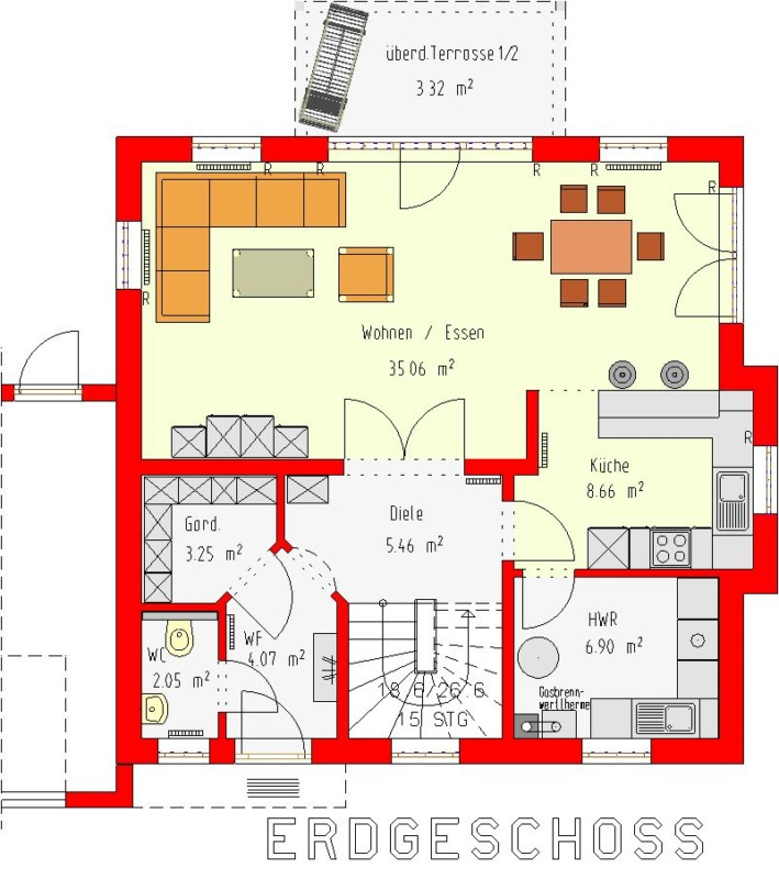 toskana einfamilienhaus monika ohne keller homolka hausbau gmbh. Black Bedroom Furniture Sets. Home Design Ideas