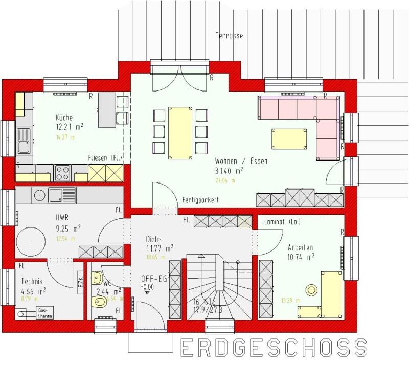 Turbo Einfamilienhaus Romana ohne Keller - Homolka Hausbau GmbH RM21